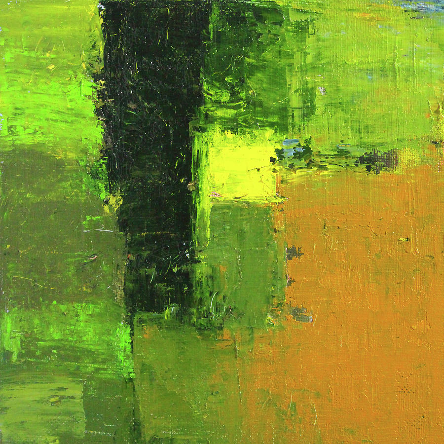 Green Envy Abstract Painting by Nancy Merkle