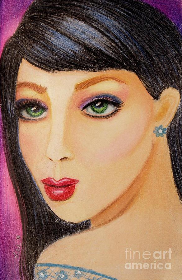Green Eyed Brunette by Dorothy Lee