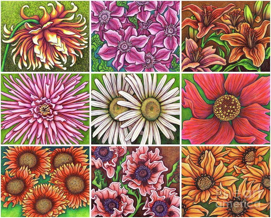 Green Garden Patchwork by Amy E Fraser