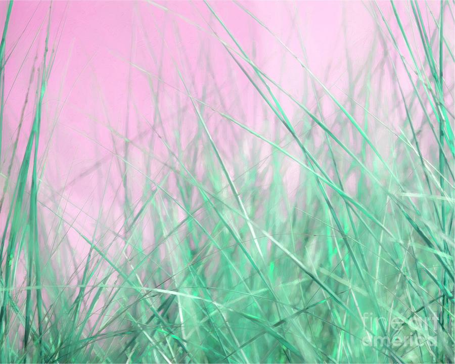 Green Grass Pink Sky by Hal Halli