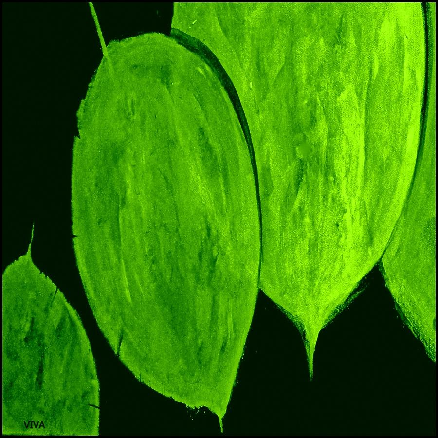 Green Leaves Study Painterly by VIVA Anderson
