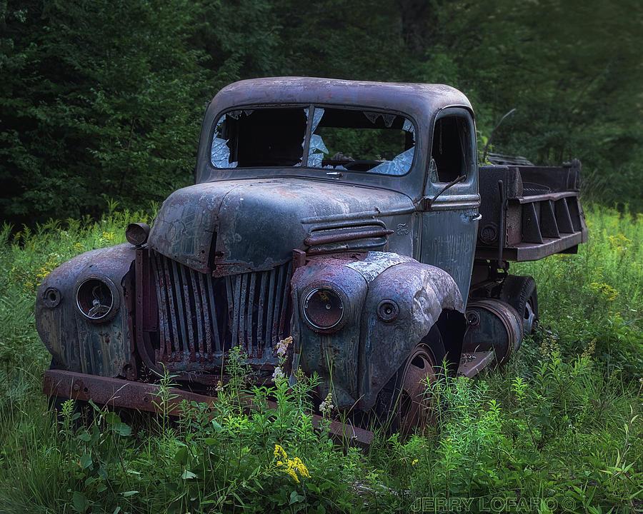 Truck Photograph - Green Mattress by Jerry LoFaro