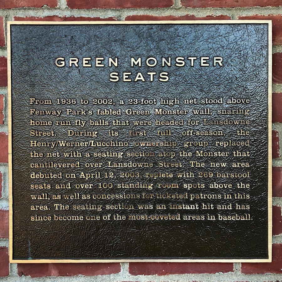 Green Monster Seats - Red Sox Art by Joann Vitali
