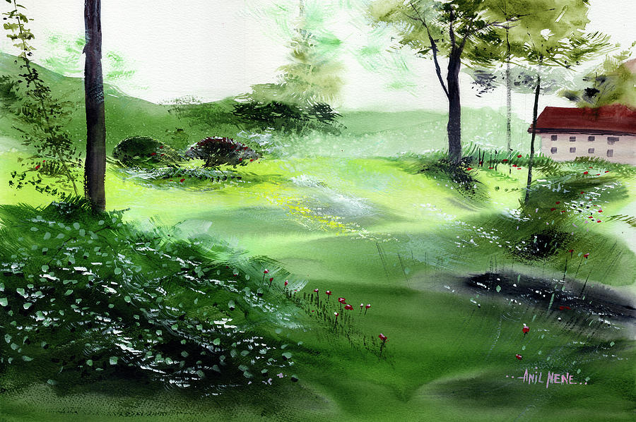 Green Morning 3 by Anil Nene