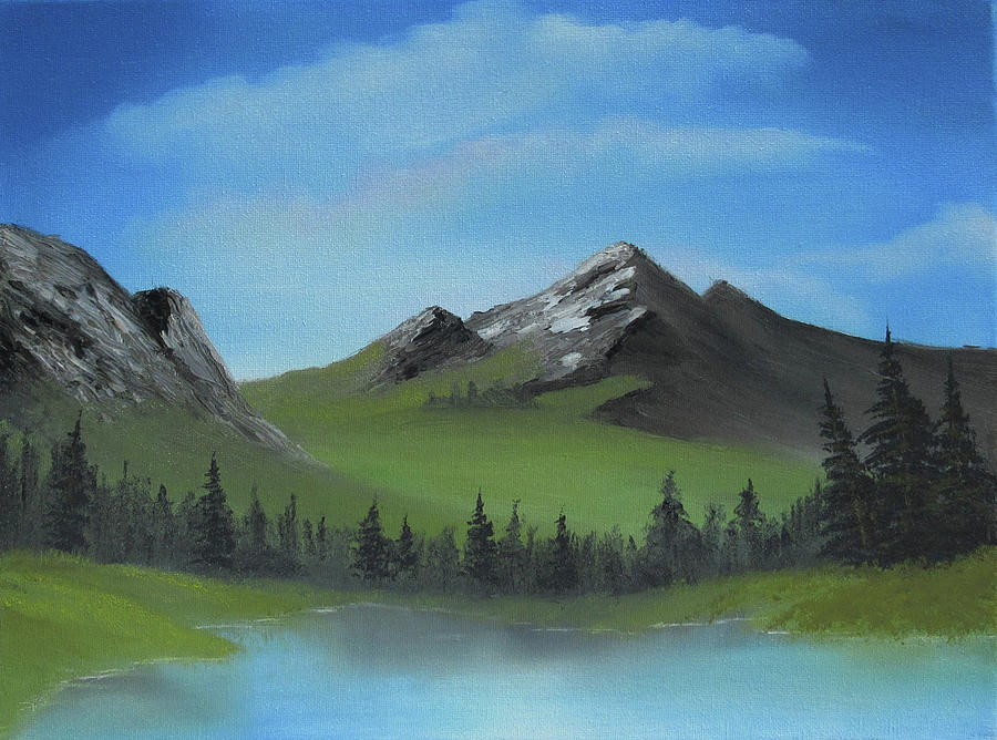 Landscape Painting - Green Mountain by Forrest Girrard