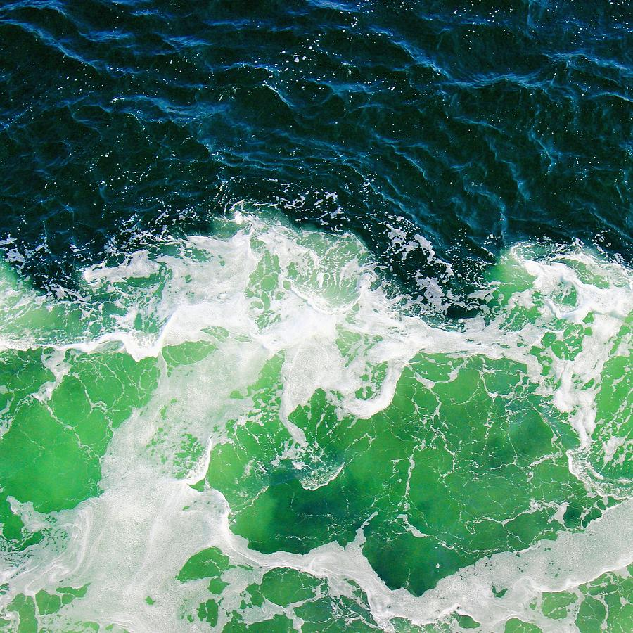 Green Ocean Waves by Marianna Mills