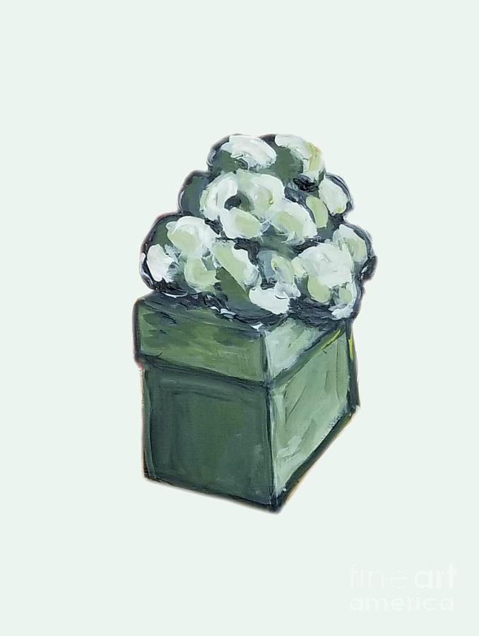 Present Painting - Green Present by Maria Langgle