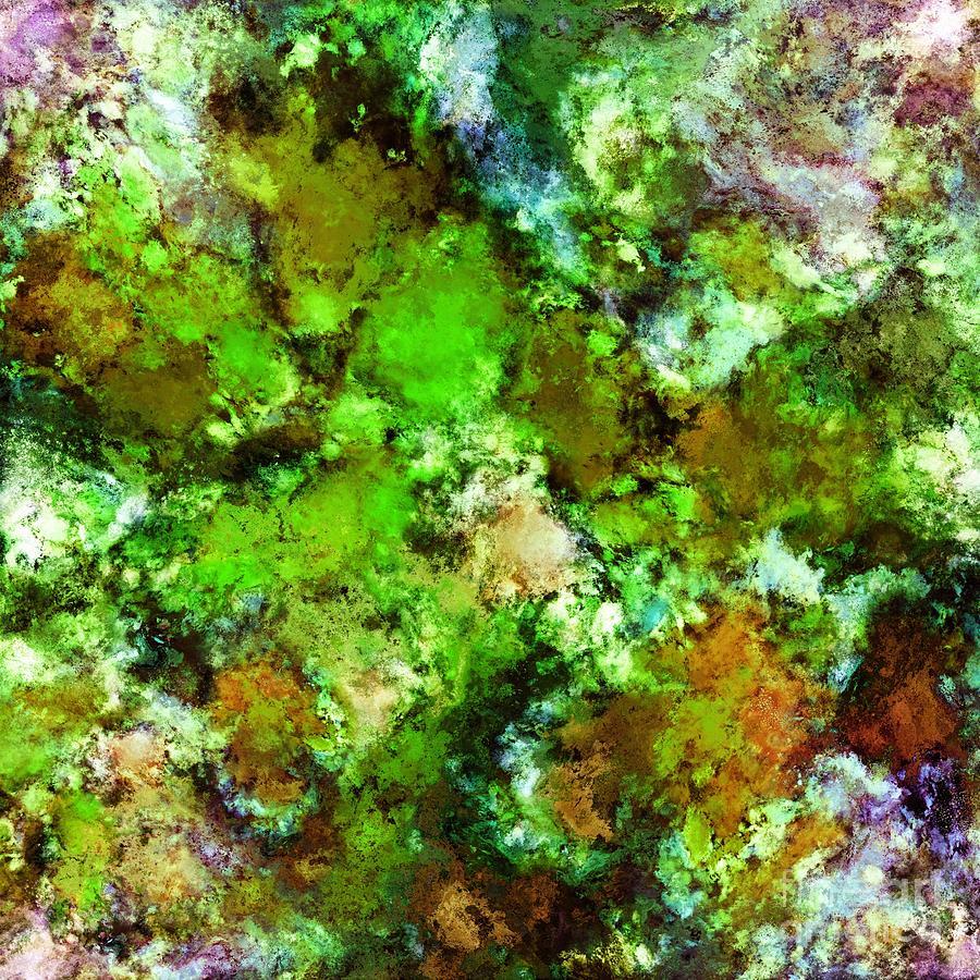 Green Digital Art - Green Scene by Keith Mills