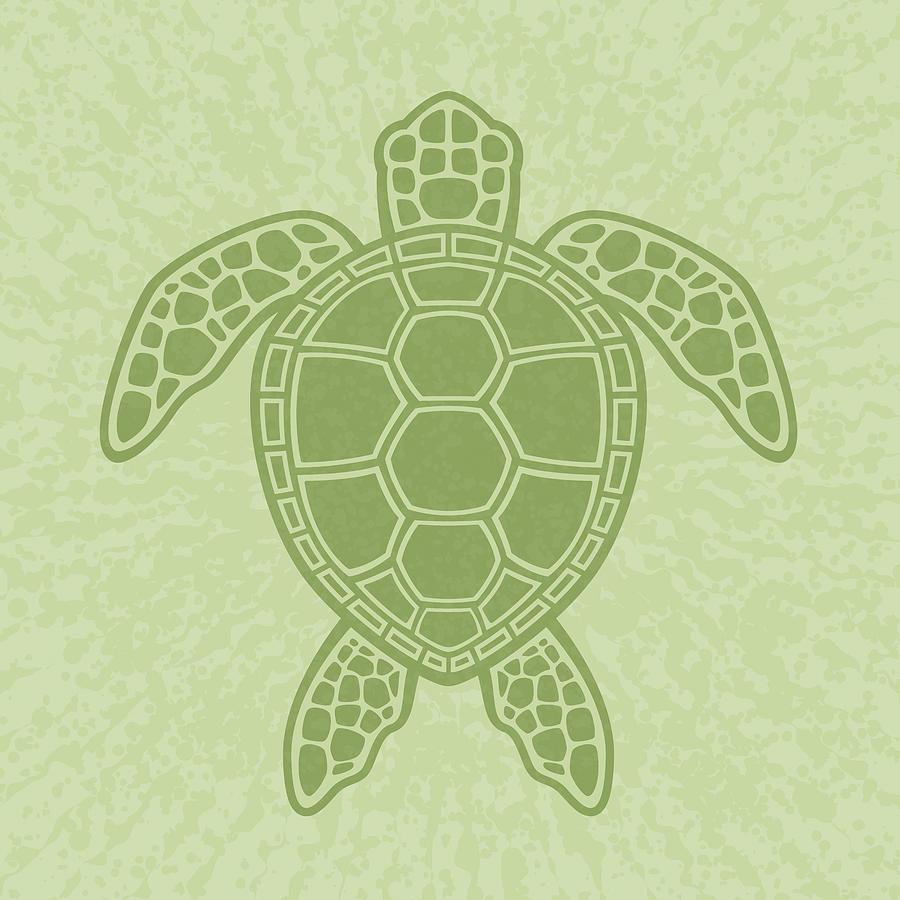 Green Sea Turtle Digital Art