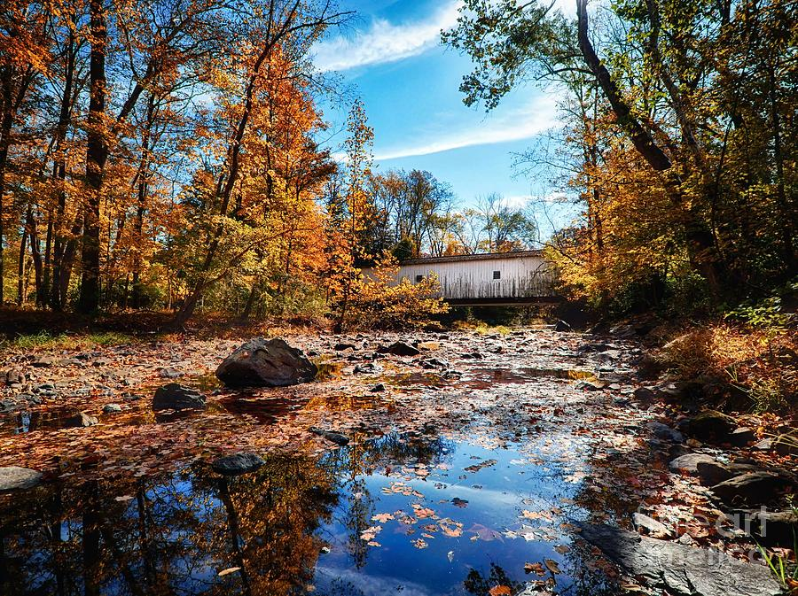 Green Sergeant's Covered Bridge Over Wickecheoke Creek by Mark Miller