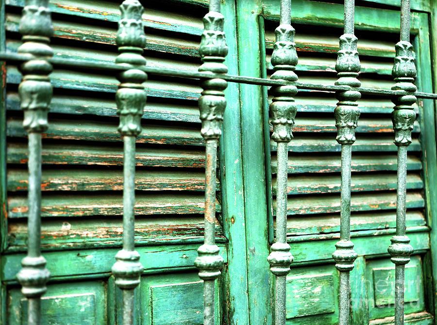 Green Shutters in Seville by John Rizzuto