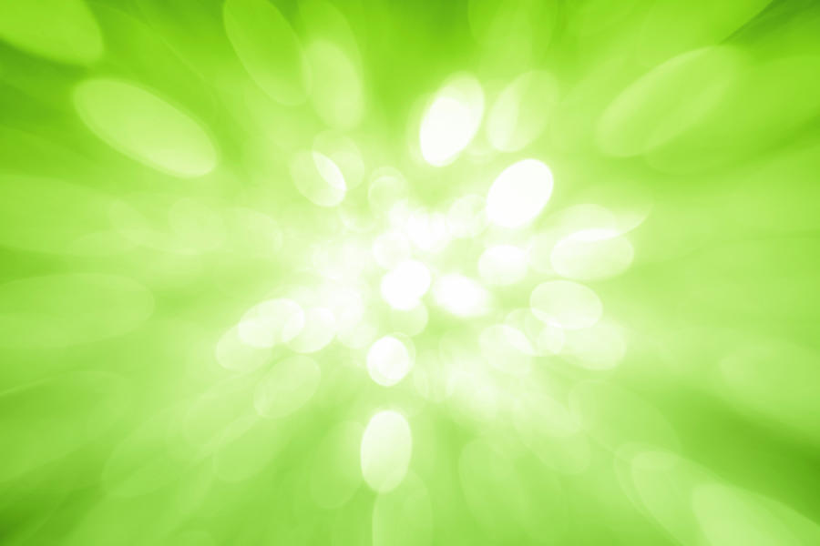 Green Sparkles Coming From The Center Photograph by Krystiannawrocki