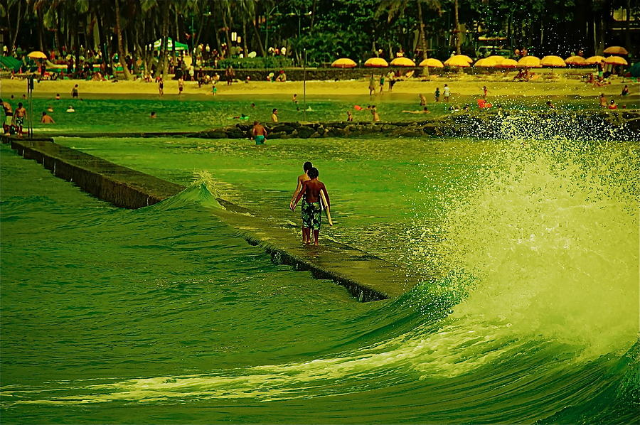 Surf Photograph - Green Surf by Marty Klar