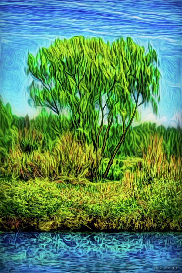 Green Tree Serenity by Joel Bruce Wallach