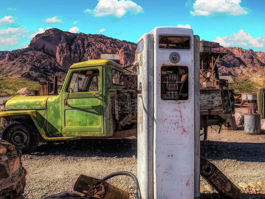 Green Truck Photograph