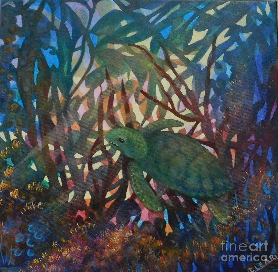 Green Turtle by Joan Clear