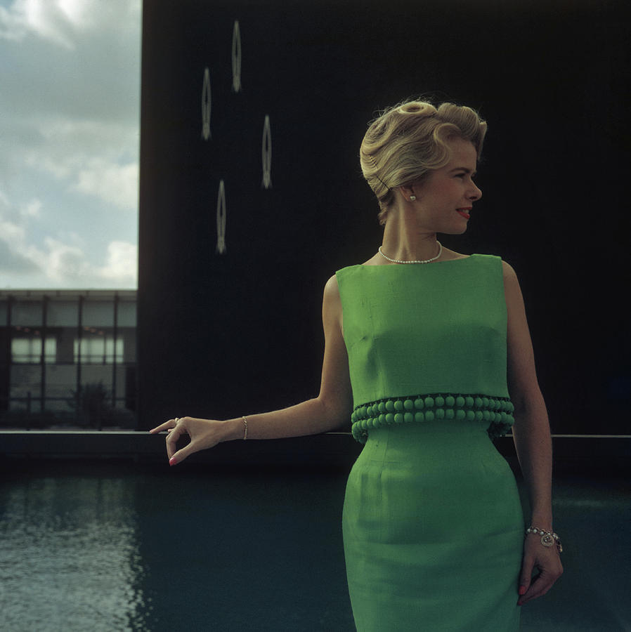 Green Two-piece Photograph by Slim Aarons