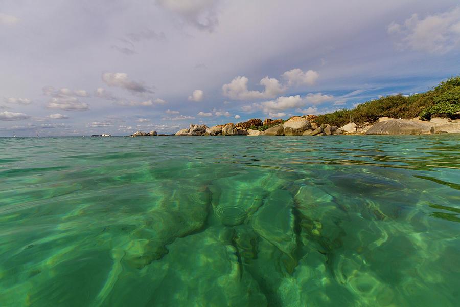 Green Water Of Caribbean Sea Photograph by Lotus Carroll