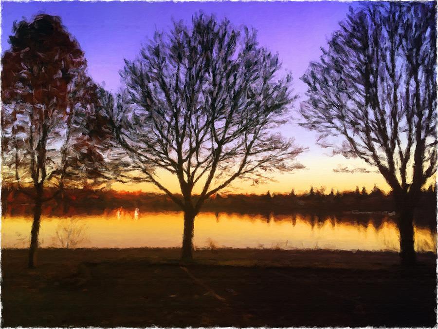 Greenlake Dawn Intensity by Paisley O'Farrell