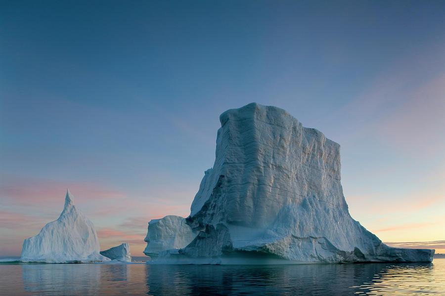 Greenland, Disko Bay, Massive Icebergs Photograph by Paul Souders