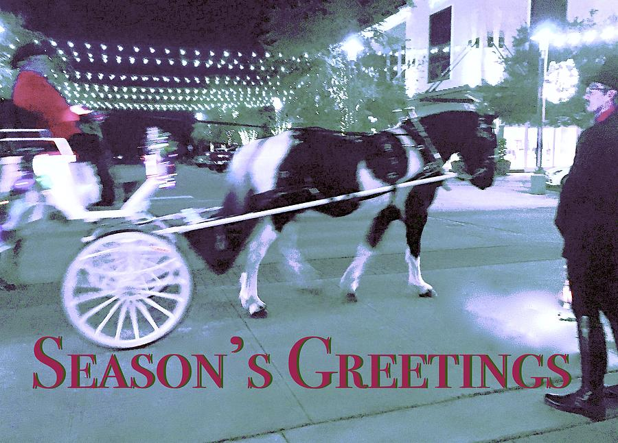 Greetings Carriage Ride by Debra Grace Addison