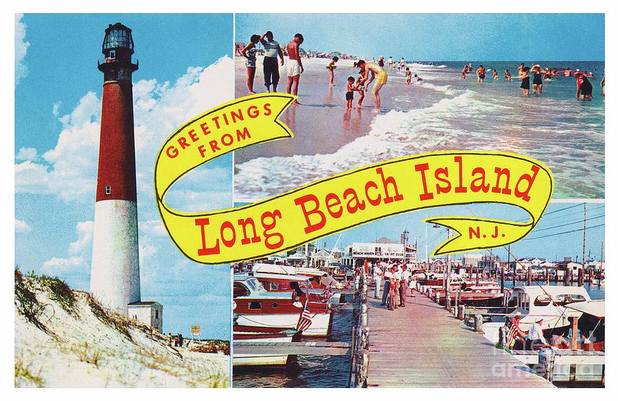 Long Beach Island, NJ Greetings - Version 1 by Mark Miller