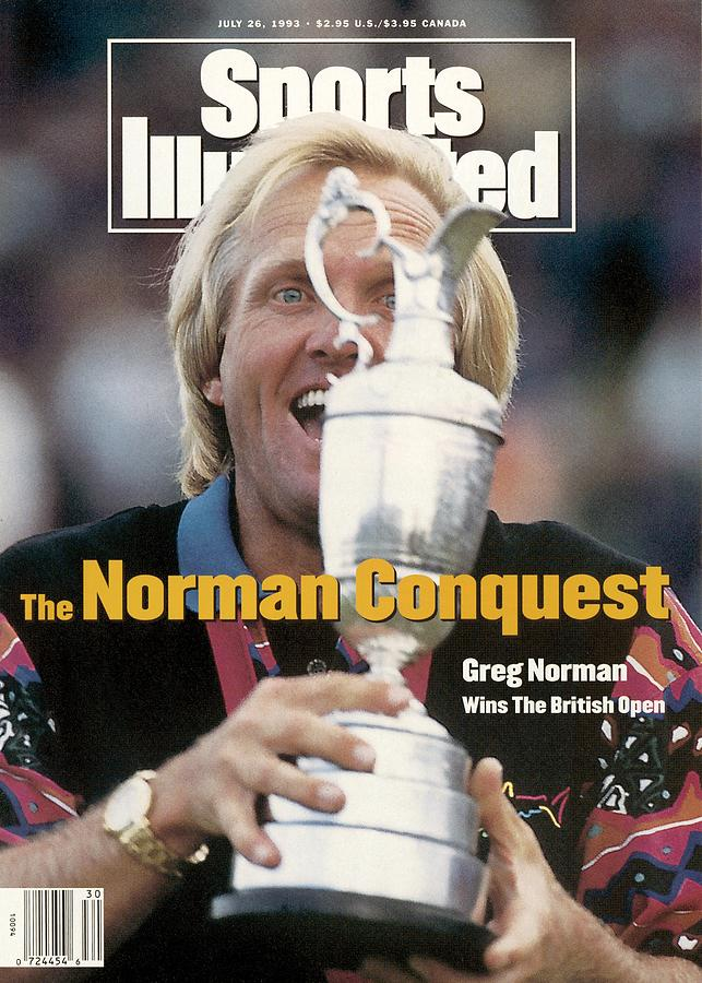 Greg Norman, 1993 British Open Sports Illustrated Cover Photograph by Sports Illustrated