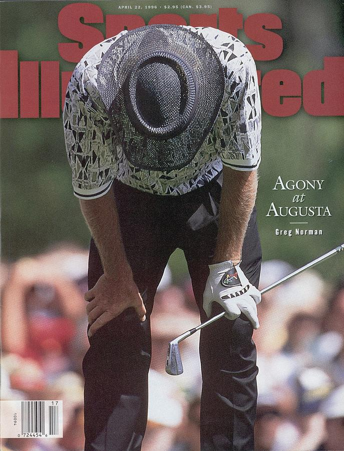 Greg Norman, 1996 Masters Sports Illustrated Cover Photograph by Sports Illustrated