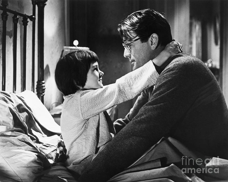 Gregory Peck And Mary Badham In To Kill Photograph by Bettmann
