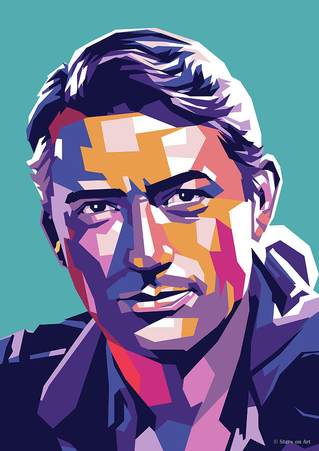 Gregory Peck by Stars on Art