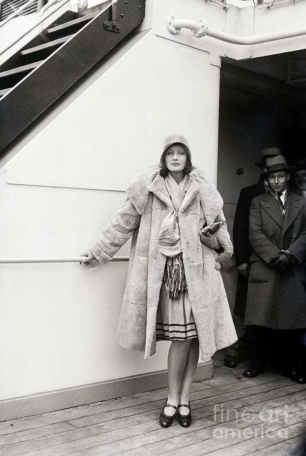 Greta Garbo Sailing On Ship Photograph by Bettmann