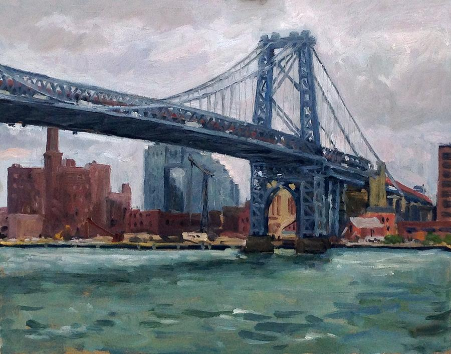 Grey and Blue Williamsburg Bridge NYC by Thor Wickstrom