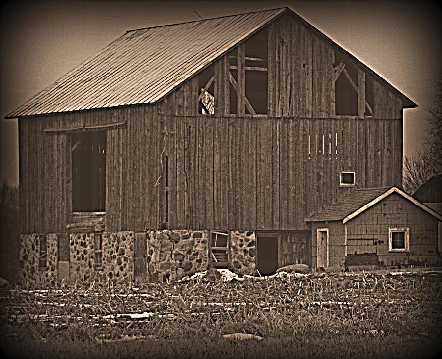 Grey Barn by Kimberly Woyak