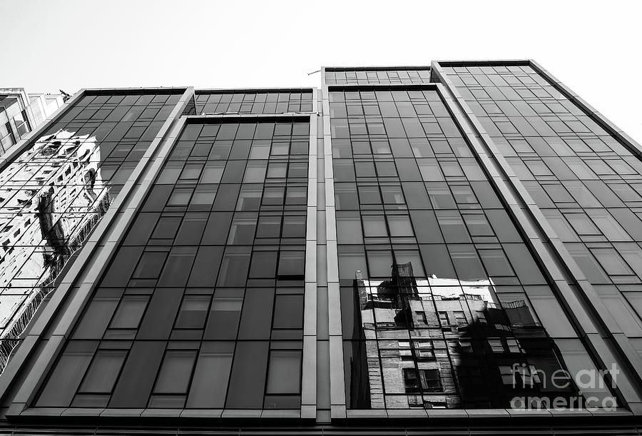 Architecture Photograph - Grey Windows by Len Tauro