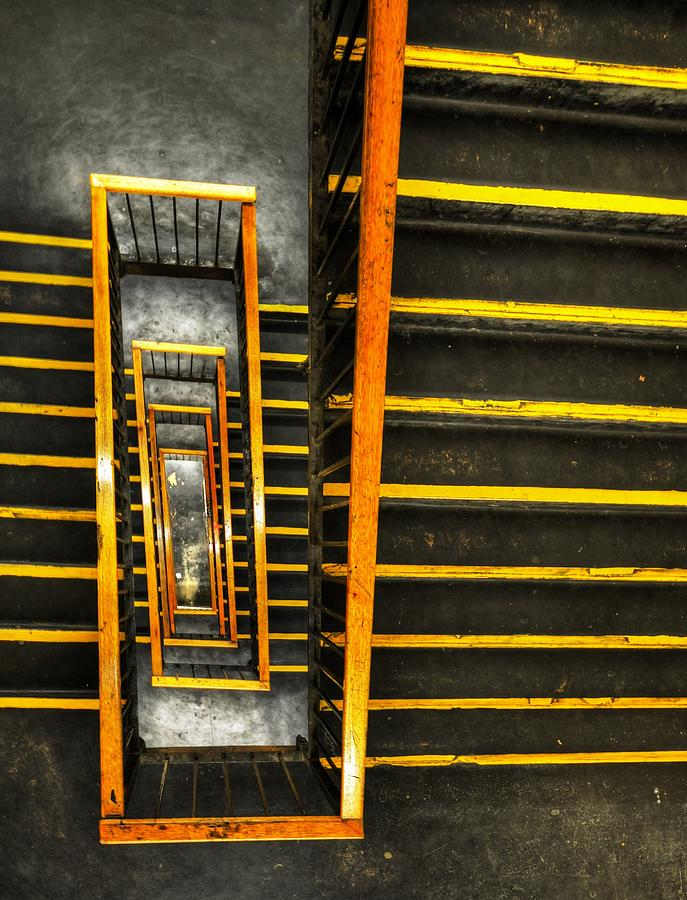 Grid Of Stairs Photograph by Stewart Hardy