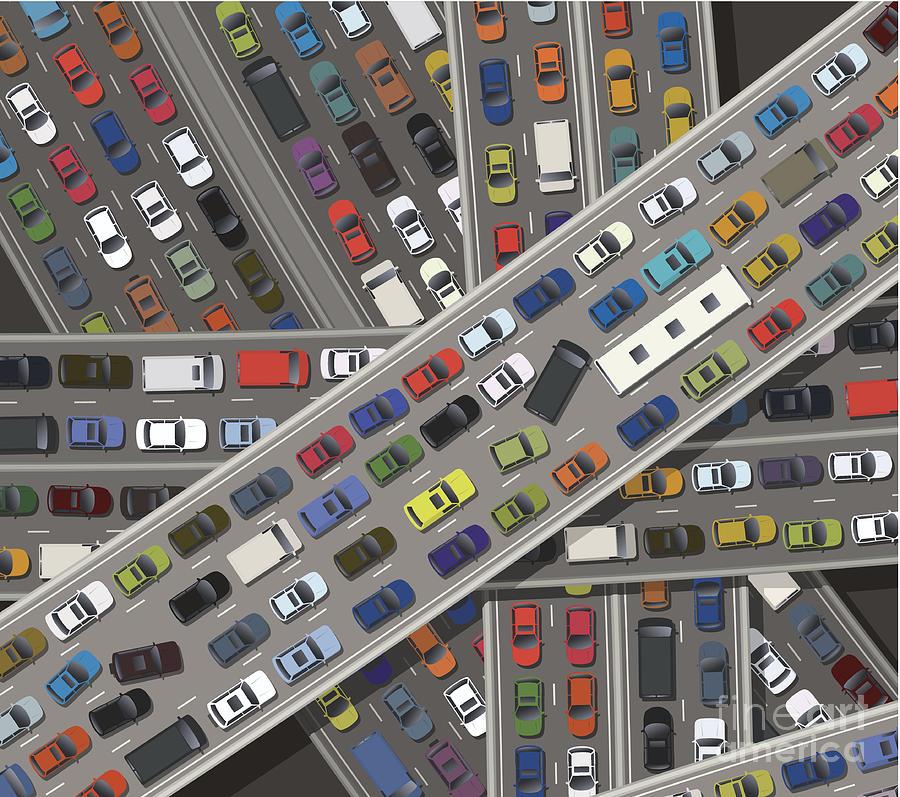 Gridlock Digital Art by Timoph