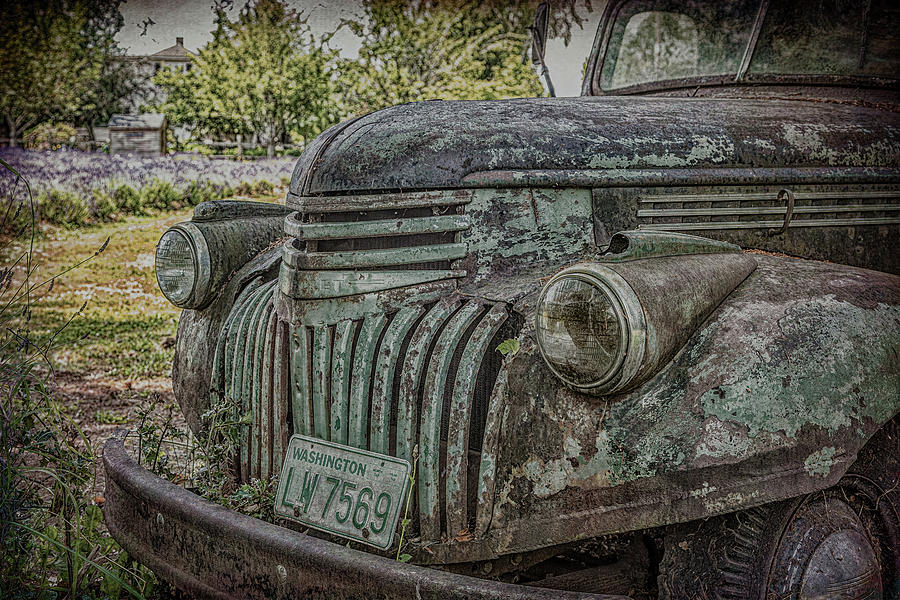Grill on Old Green Truck by Darryl Brooks