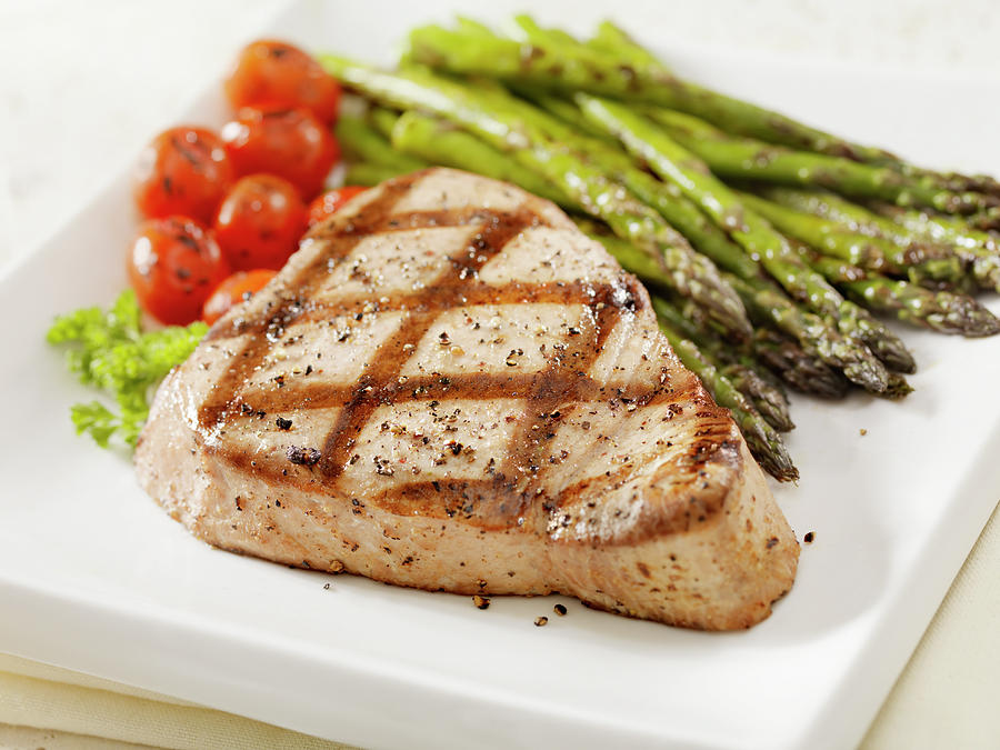 Grilled Ahi Tuna Steak Photograph by Lauripatterson
