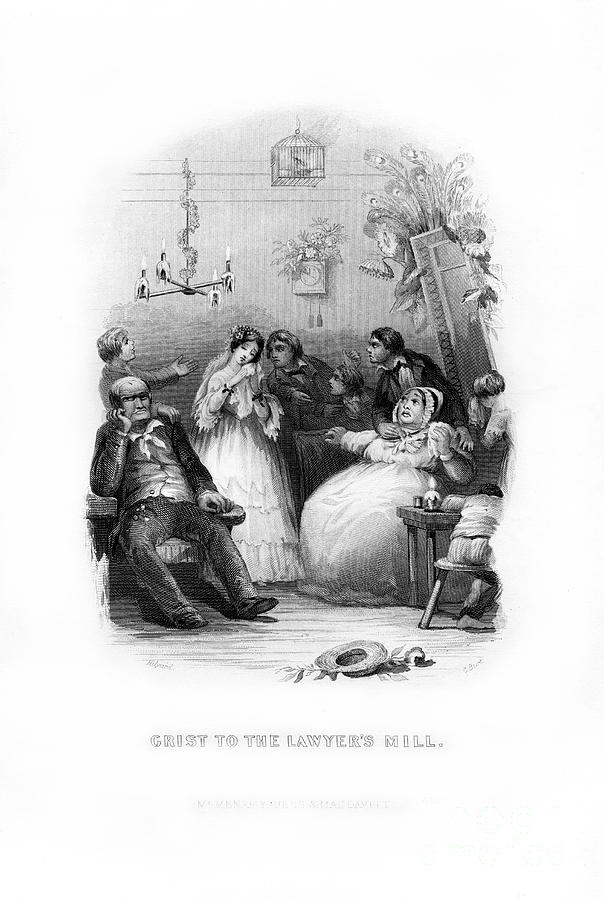 Grist To The Lawyers Mill, 1872.artist Drawing by Print Collector