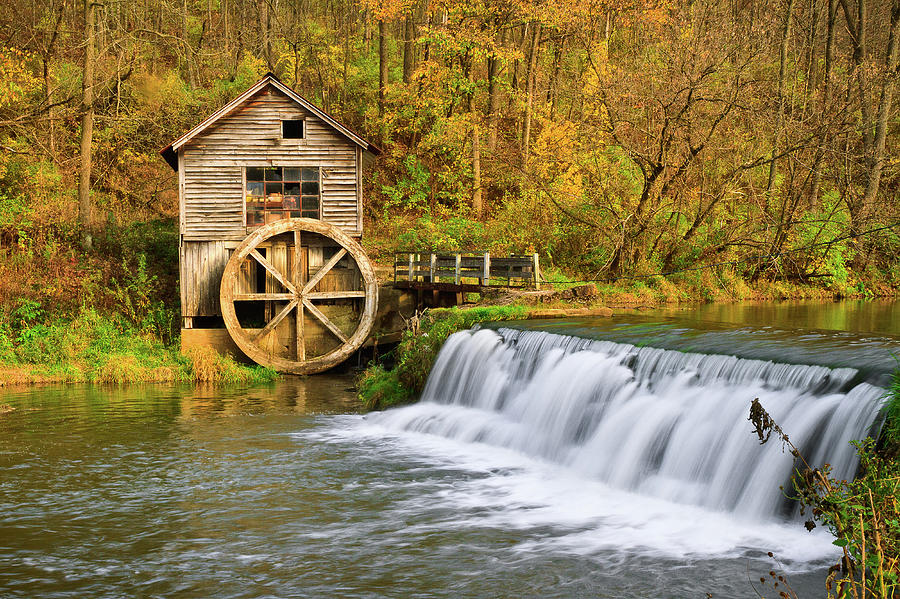 Gristmill Waterwheel Photograph by Matthew Crowley Photography