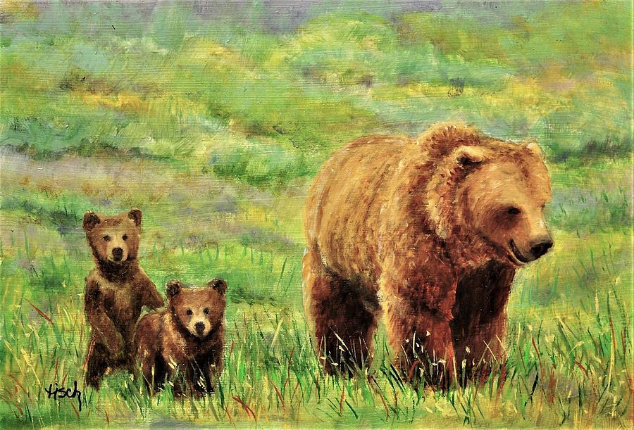 Grizzly Bears Study XIX by Lee Tisch Bialczak