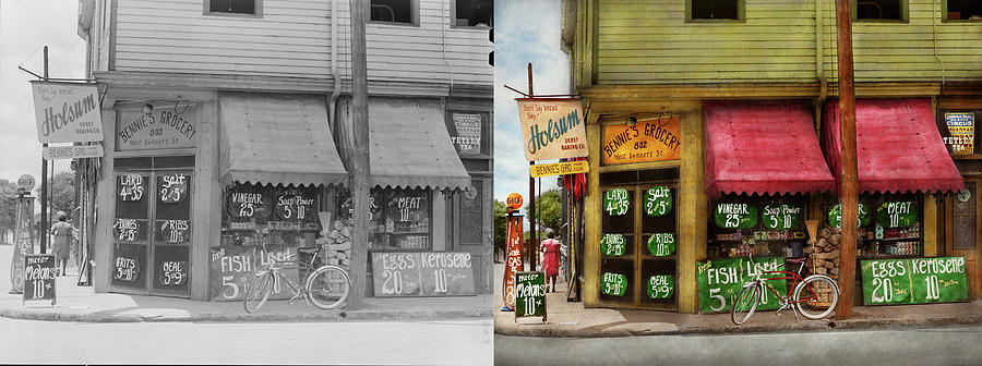Grocery - Savanna GA - The neighborhood grocer 1939 - Side by Side by Mike Savad