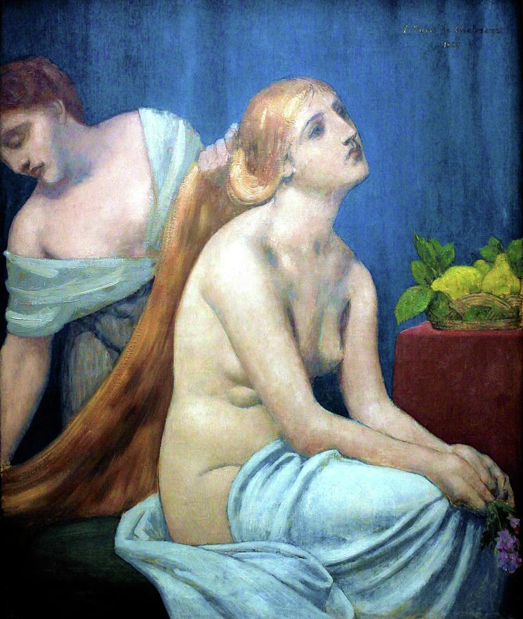 Grooming Painting - Grooming - Digital Remastered Edition by Pierre Puvis de Chavannes