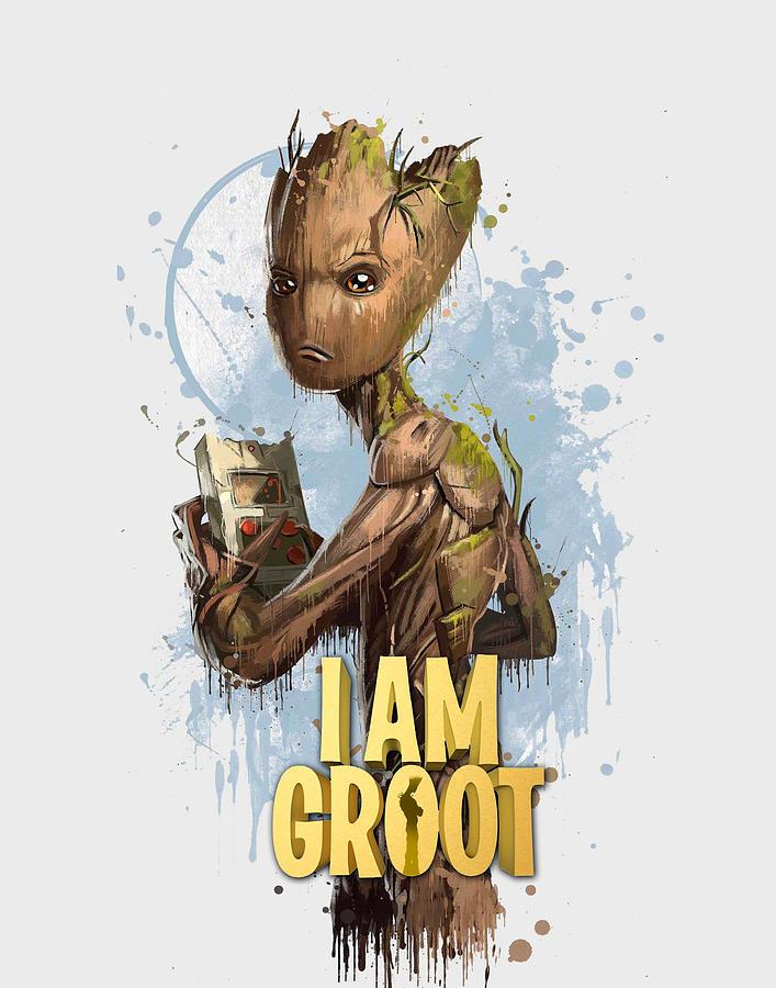 Groot Digital Art - Groot  by Geek N Rock