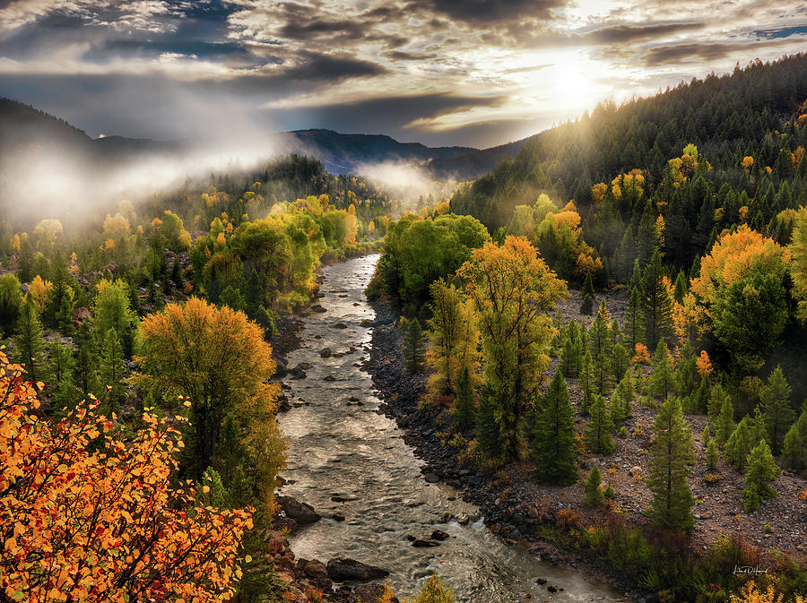 Nature Photograph - Gros Ventre River Light by Leland D Howard