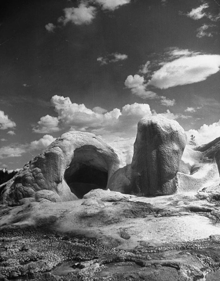 Grotto Geyser In Yellowstone National Photograph by Alfred Eisenstaedt