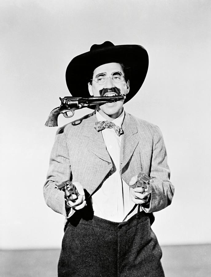 GROUCHO MARX in GO WEST -1940-. Photograph by Album