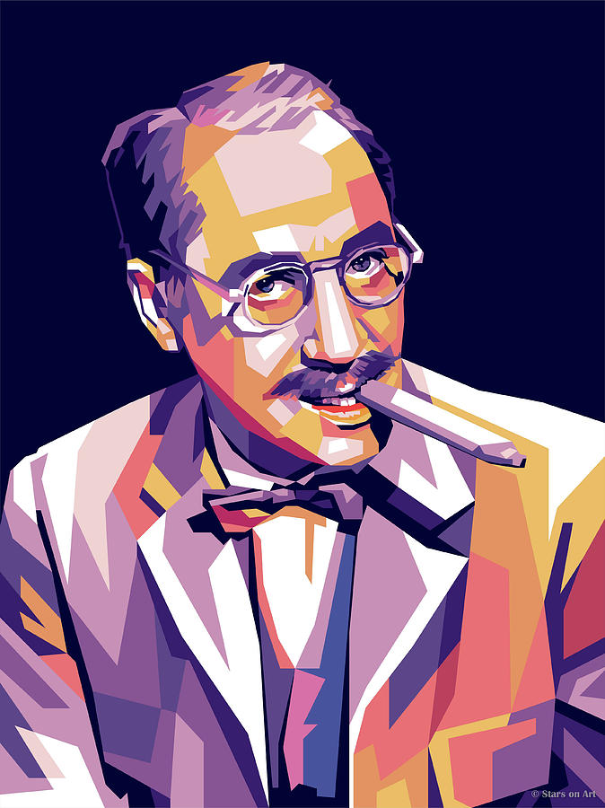 Groucho Marx Digital Art