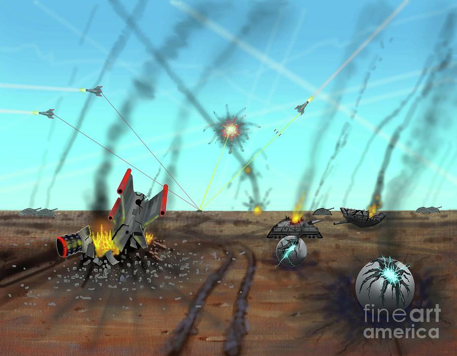 Ground Battle by Dumitru Sandru