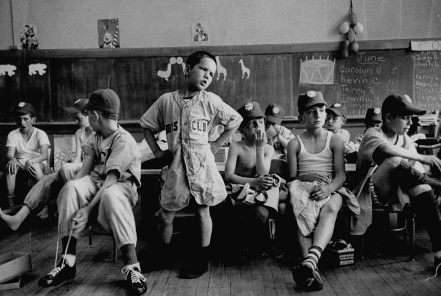 Group Of Boys Club Little League Basebal Photograph by Yale Joel